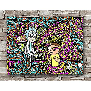 Huawuque Pop Art Rick and Morty Hypebeast Poster Standard Size | 18-Inches by 24-Inches |Pop Art Posters Wall Poster Print
