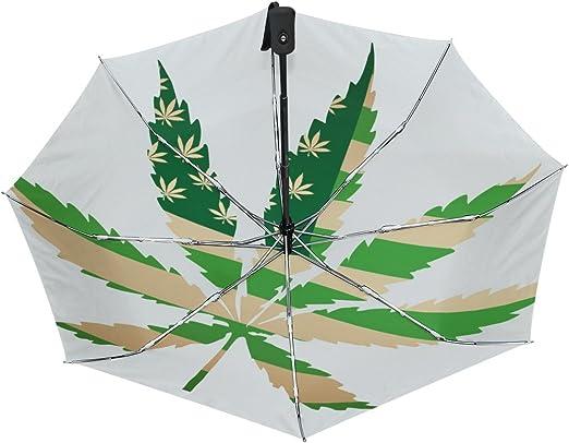 My Daily Marijuana Leaf Of Cannabis Travel Umbrella Auto Open Close UV Protection Windproof Lightweight Umbrella