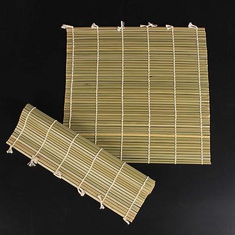BESTONZON 1 Pc Green Bamboo Sushi Roller Mat Sushi Rolling Bamboo Pad Kitchen Sushi Making Tool 30x30cm
