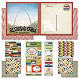 Scrapbook Customs Themed Paper and Stickers Scrapbook Kit, Missouri Vintage