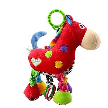 Cochecito de asiento de coche de juguete para niños Cama de bebé Cuna Cuna colgador colgante musical colgante de juguete (burro)