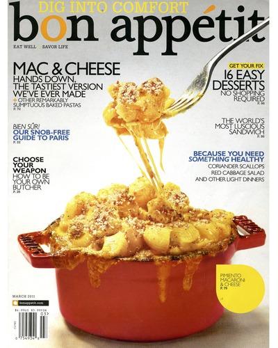 Bon Appetit March 2011 Dig Into Comfort (Mac & Cheese, 16 Easy Desserts) pdf epub