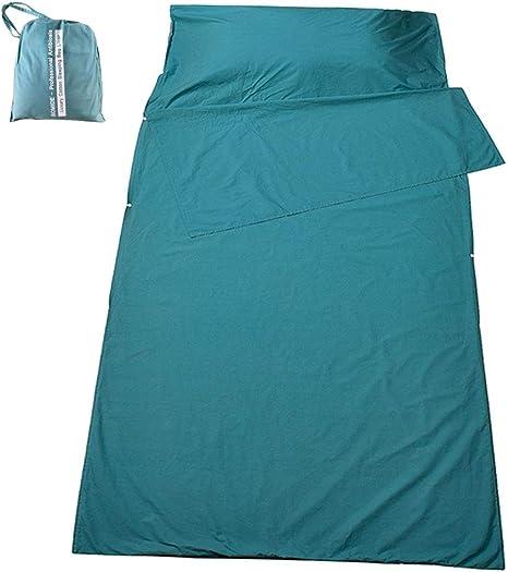 SOMIDE Saco de Dormir y sábana de Camping, 100% algodón Puro ...