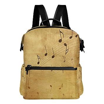TIZORAX - Mochila Escolar, diseño de Notas Musicales: Amazon.es: Deportes y aire libre