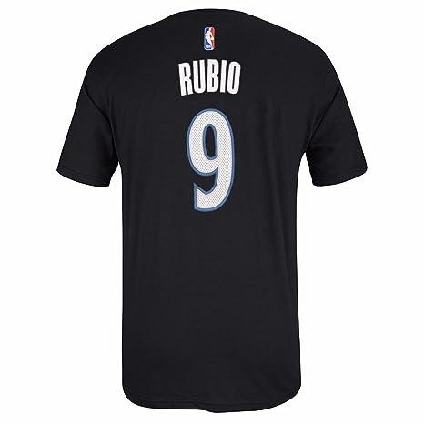 Amazon.com   adidas Ricky Rubio Minnesota Timberwolves NBA Men Black ... 263d74876