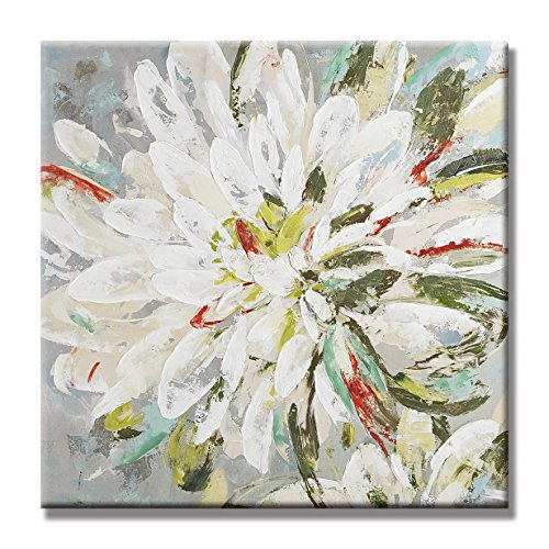 UAC WALL ARTS Natural Flower Canvas Wall Art 100% Hand Painted Contemporary Abstract Flower Oil Painting on Canvas Wall Art Decorative Artwork Framed Ready to Hang for Home (Decorative Art Framed Art)