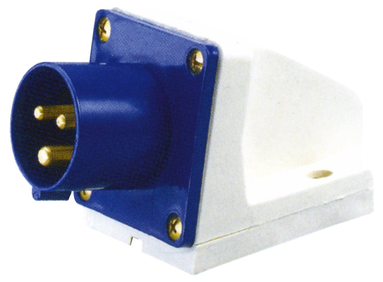 CEE Wandstecker Abgewinkelt Blau 230V 32A E302BE Altai
