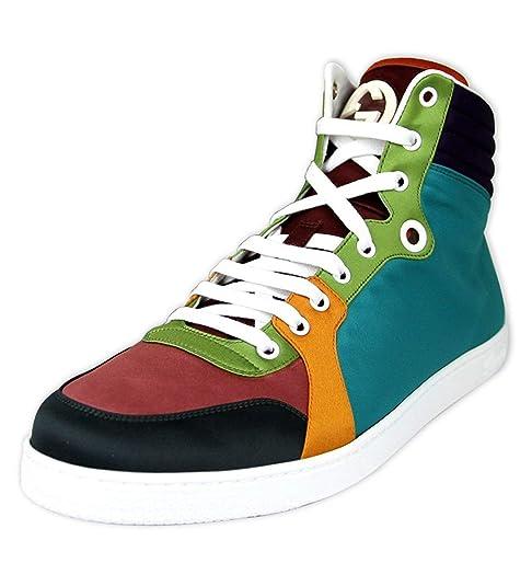 Gucci Zapatillas de Satén Hightop Multicolor 343094 3063 (11.5 U.S./11 G)
