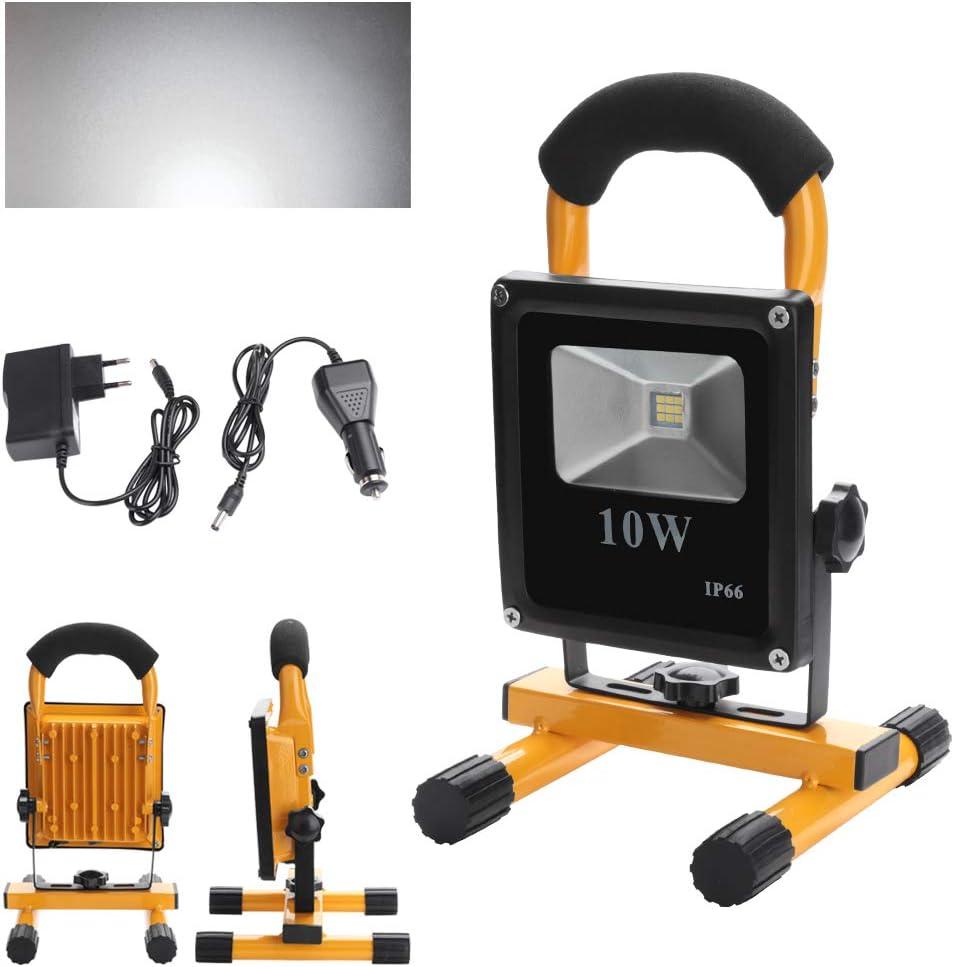 wolketon LED 10W Blanco frío Recargable Foco Proyector