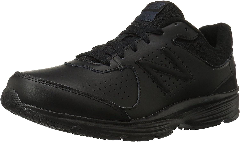New Balance Men's MW411v2 Walking Shoe, Black, 14.5 UK/50 EU ...