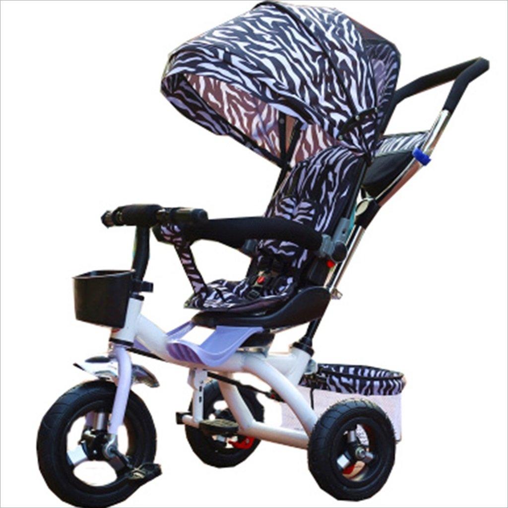 子供屋内屋外小型三輪車自転車の男の子の自転車の自転車6ヶ月-5歳の赤ちゃんスリーホイールトロリー、ダンピング/回転シート/アルミニウム合金のゴム製の車輪 (色 : 4) B07DVCC31Y 4 4
