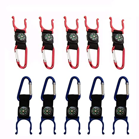 Compass Carabiners D-Ring Keys Chain Hook Holder Clips Outdoor Sports
