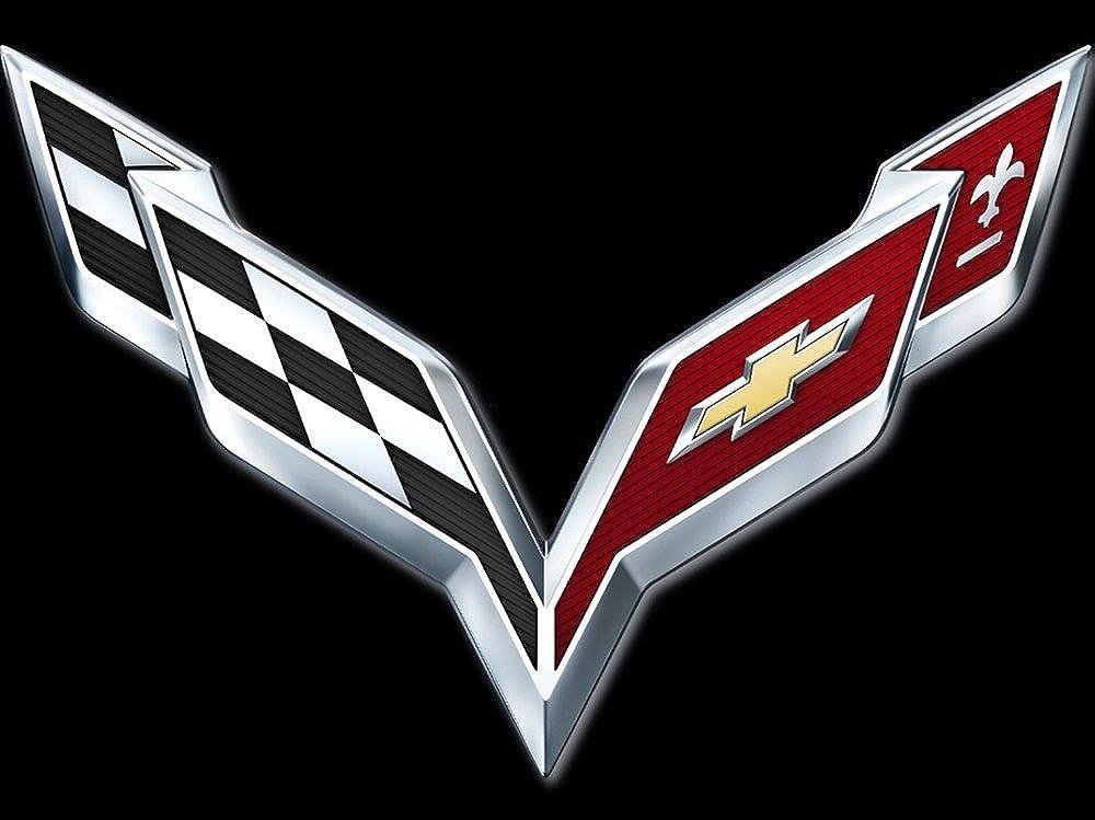 9074 Natshop2000 Chevrolet Corvette Auto Sweat /à Capuche zipp/é avec Logo brod/é de qualit/é sup/érieure