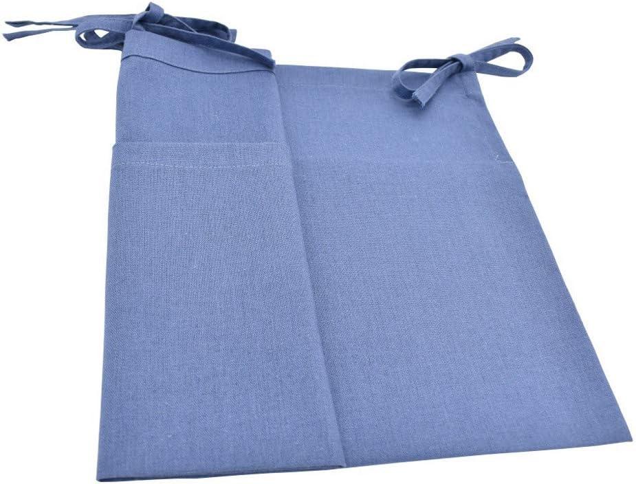 Baby Cot Pocket Organiser Solid Bedside Toys Hanging Storage Bag beige FBGood Hanging Storage Bag