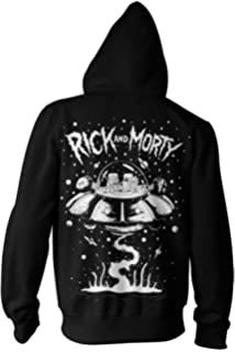 52f8763b682a Amazon.com  Rick   Morty Portal Glow Lightning Logo Pullover Hoodie ...