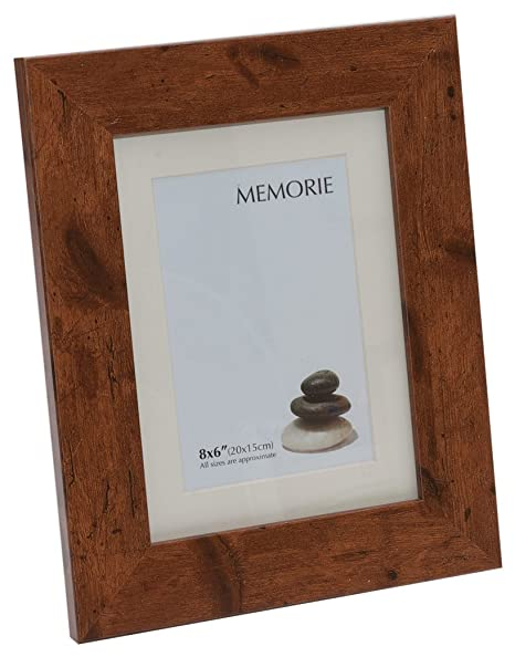 Memoire Frames Richmond Rustic 8 X 6 Inch Photo Frame With Cream Mount To 6