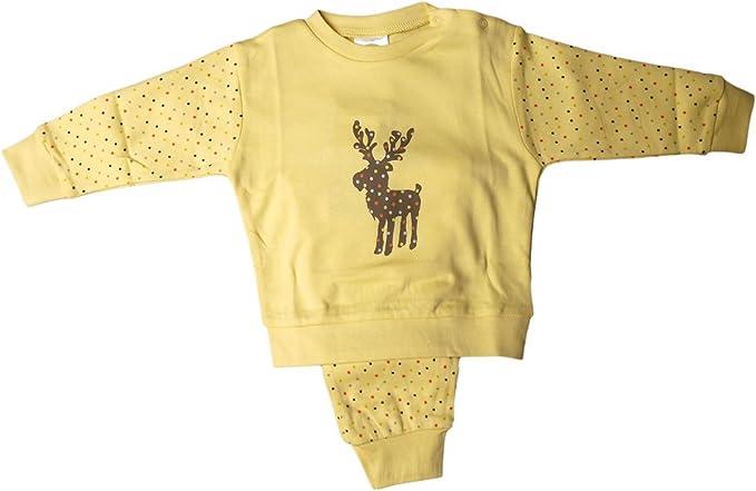 DIMO-TEX - Pijamas enteros - para bebé niña amarillo 18 meses