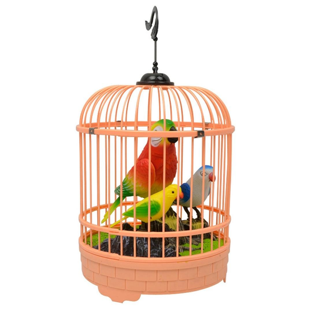DRESS 2018 Newest Electric Parrot Bird With Cage Magical