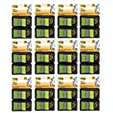Post-it Flags, 1 Inch, Bright Green, Two Dispensers per Pack, 12 Pack (680-BG2)