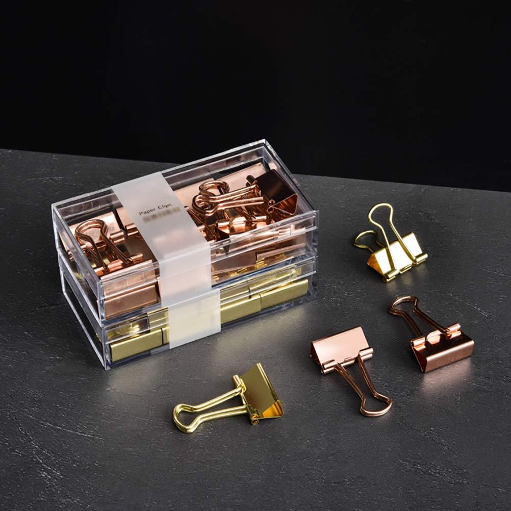 Rose Gold Binder Clips Decorative Office Organizer Accessories,Topgogo 0.74\