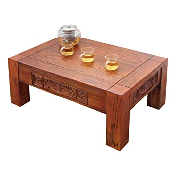 Tatami table basse Elm bois baie vitrée table basse table basse ...