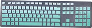 Keyboard Cover Skins Compatible with Dell KM636 KB216 Wired Keyboard & Dell Optiplex 5250 3050 3240 5460 7450 7050 & Dell Inspiron AIO 3475/3670/3477 All-in one Desktop(Ombre Hot Blue)