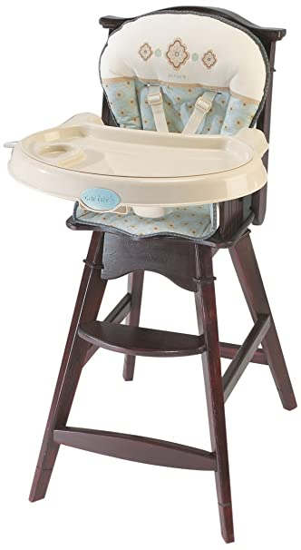 Summer Infant Carters Classic Comfort Reclining Wood High Chair Whisper Brownblue Discontinued
