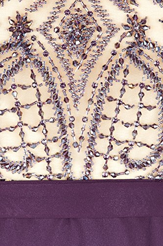 Lange Damen Stil 1012717 Kleid aubergine Dynasty mit Aubergine Schal Mira wfdtqZ