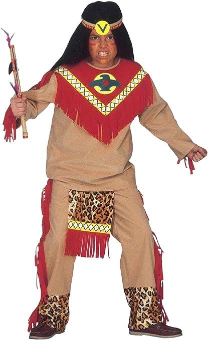 WIDMANN Toro scatenato disfraz Guerrero indio, de talla 5/7 años ...