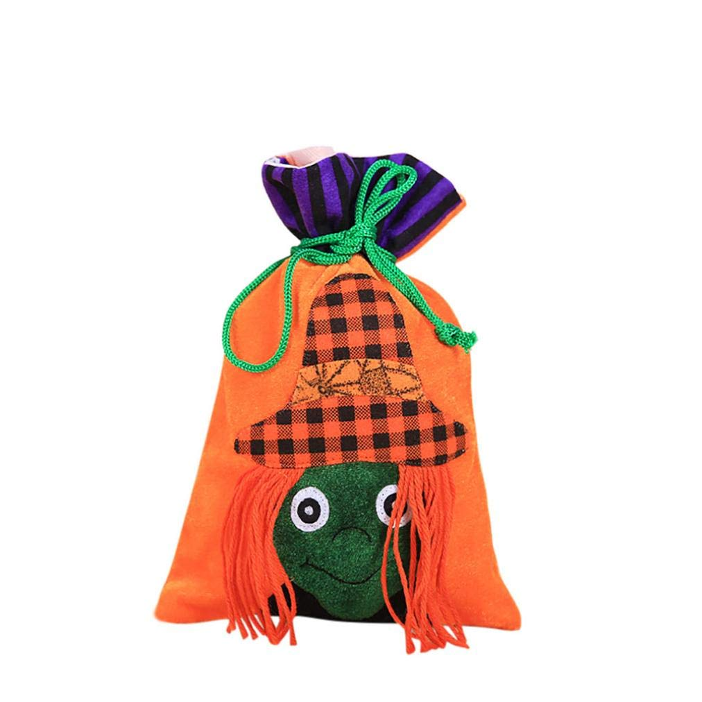 2018 Halloween Bags Vovotrade Cute Witches Candy Bag Cartoon Print Packaging Children Party Storage Bag Vovotrade-Baby BK-88