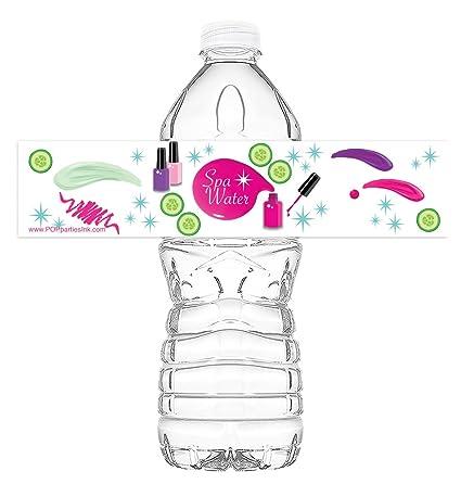 POP Parties Spa Party Bottle Wraps