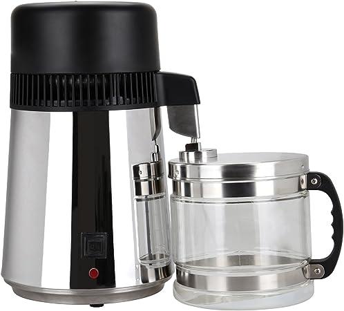 Iglobalbuy 4L Water Distiller Machine Stainless Steel inner Tank with Glass Jar