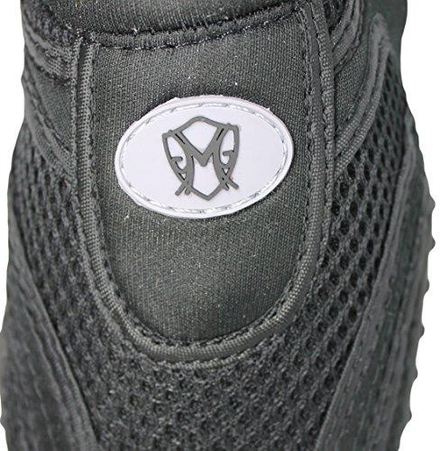Greg Michaels Womens Water Shoes Aqua Socken - Hohe Haltbarkeit, angenehm zu tragen in Wasser und auf der Oberfläche Schwarz Schwarz