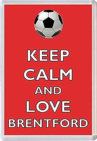 Keep Calm and Love Foxes Novelty Jumbo Fridge Magnet Gift//Souvenir//Present