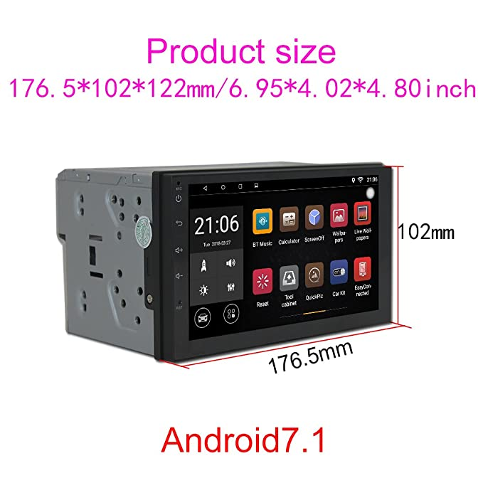 Upgraded Android 7 1 Quad Core CPU 7 Inch Touch Screen In