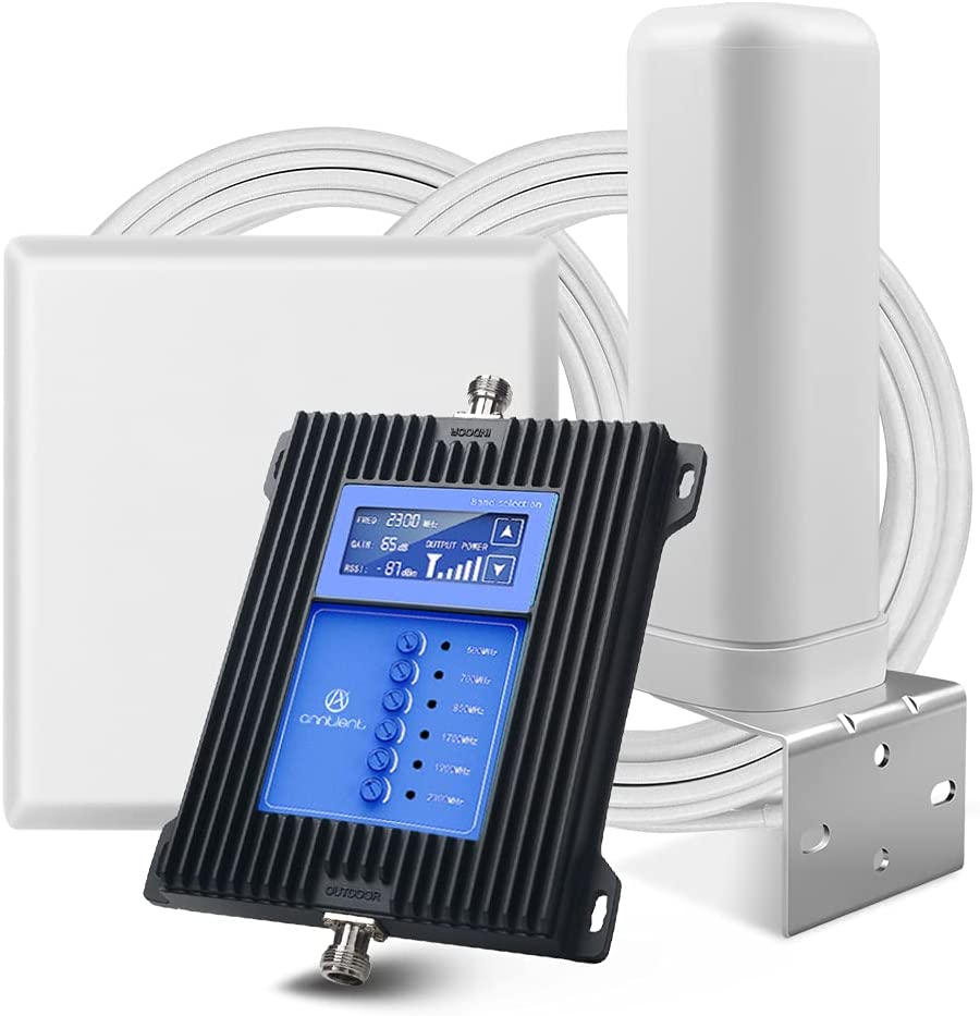 5G Cell Phone Signal Booster Repeater Amplifier for Home and Office,Suppor All U.S. Carriers (2G 3G 4G)-Verizon, AT&T, Sprint & More.