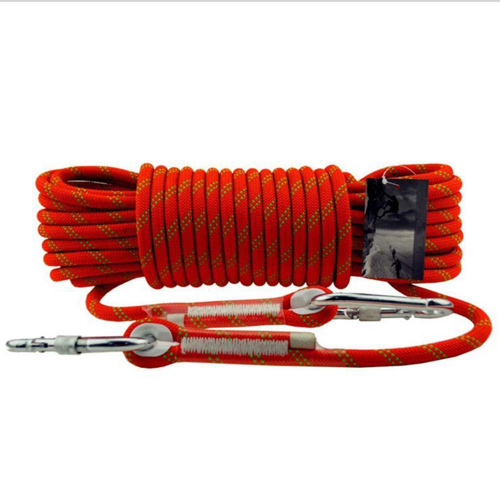 Rouge CLIMBING 12mm Haute Altitude Corde De Sécurité Corde d'escalade Rappelant La Corde Statique Porter La Corde d'escalade Extérieure Lifesaving évasion Corde vert-12mm20m 12mm40m