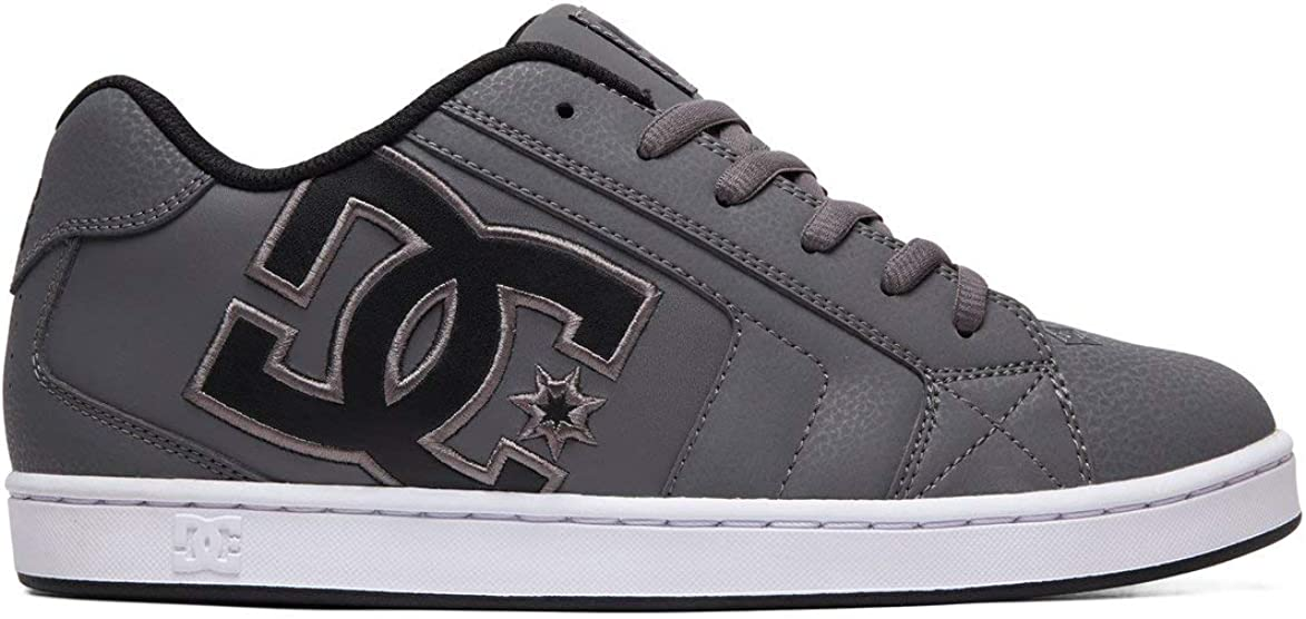 DC Men s NET Skate Shoe, Grey Black Grey, 10.5 M US