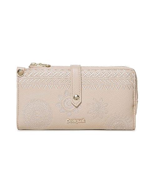 323f84e320 Desigual Wallet Dark Amber Ester Women - Portafogli Donna, Bianco (Crudo),  1x10x19 cm (B x H T): Amazon.it: Scarpe e borse
