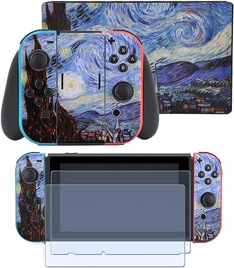 Taifond - Juego de adhesivos para Nintendo Switch Console y Joy-Con Controlador y kit de protección de base: Amazon.es: Electrónica