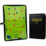 Premium Soccer/Football Tactics Board - Dry Erase Coaching Strategy Board with Pen, Eraser and Player Medallions