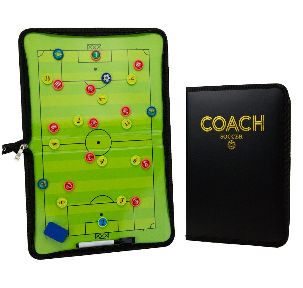 Xtreme Sport DV Premium Soccer/Football Tactics Board - Dry Erase Coaching Strategy Board with Pen, Eraser and Player Medallions by Xtreme Sport DV