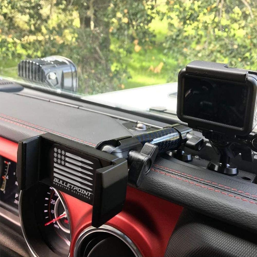 view of jeep wrangler jl and gladiator phone holder
