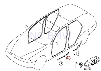 amazon bmw genuine front left entrance cover automotive 2001 X5 Silver image unavailable
