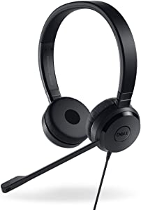 Dell 74J6M Pro Stereo USB Headset, UC350, Black
