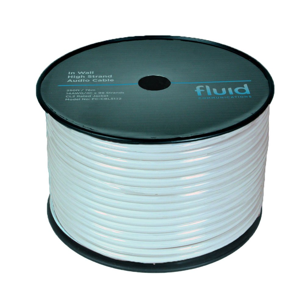 Amazon.com: In Wall CL2 Speaker Wire 14 Gauge 4 Conductor 99 Strands ...