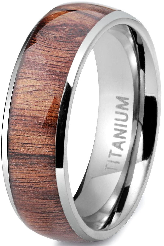 BXG mens titanium wedding rings Jstyle Titanium Engagement Rings for Men Vintage Wedding Band 8mm Amazon com