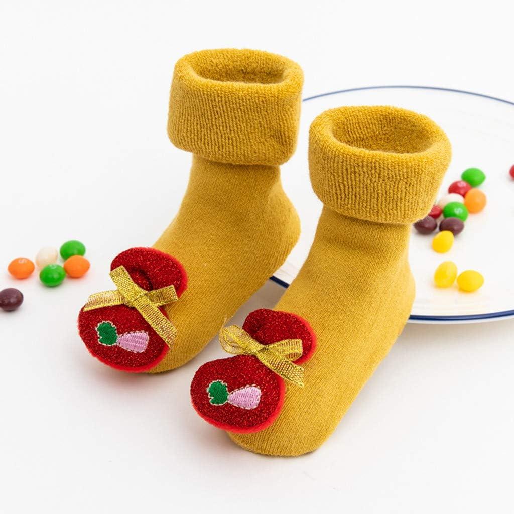 Baby Boy Girl Thickened Anti-Skid Xmas Gift Socks 3D Cartoon Baby Booties Sock Slippers Fanteecy Toddler Christmas Socks