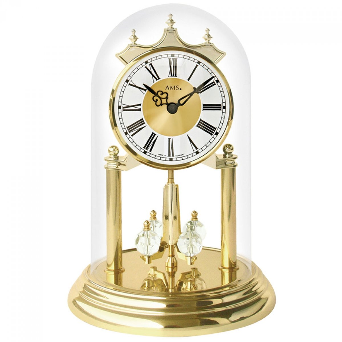 Mantel-clock with quartz movement, anniversary Clocks from AMS AM J1202