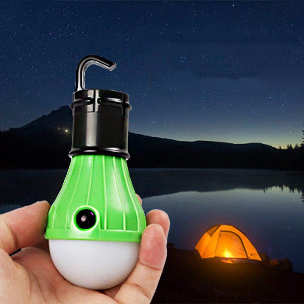 LEDMOMO Tragbare LED-Laterne rot // blau // gelb // gr/ün 4 PACK Zelt Gl/ühbirne f/ür Camping Wandern Angeln Notfall batteriebetriebenes Licht